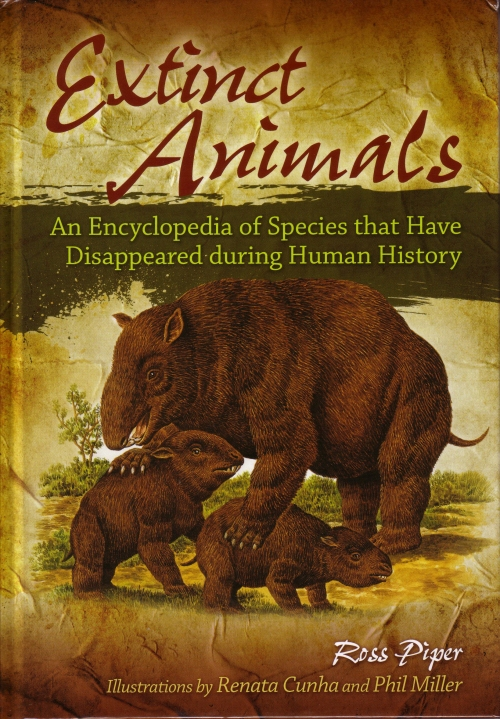 Front cover for Extinct Animals